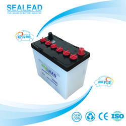 German technology 55530 55565 DIN55 12v 45AH dry charged korean car battery for Africa market