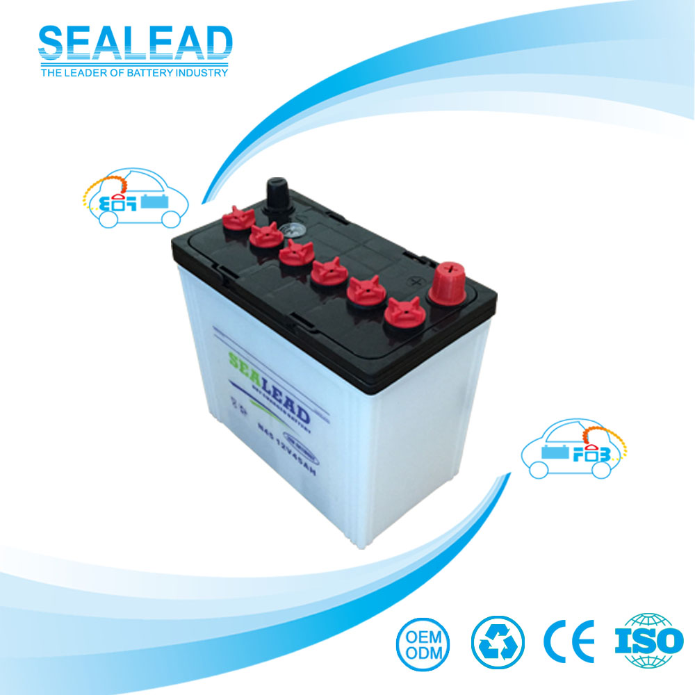 wholesale price German technology 55530 55565 DIN55 12v 45AH dry charged korean car battery for Africa market