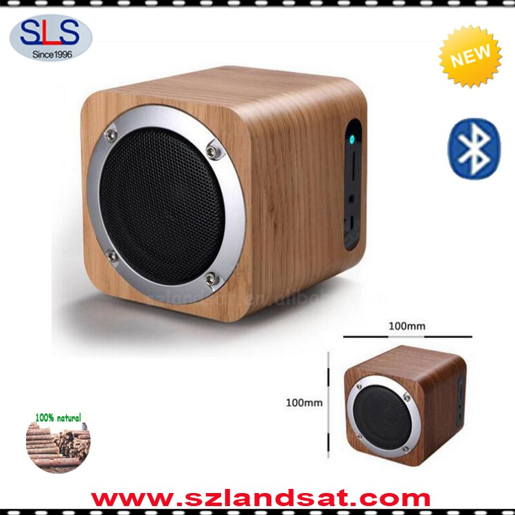 2016 hot wood bluetooth induction speaker and eco speakers for iphone 6 7 BMS05