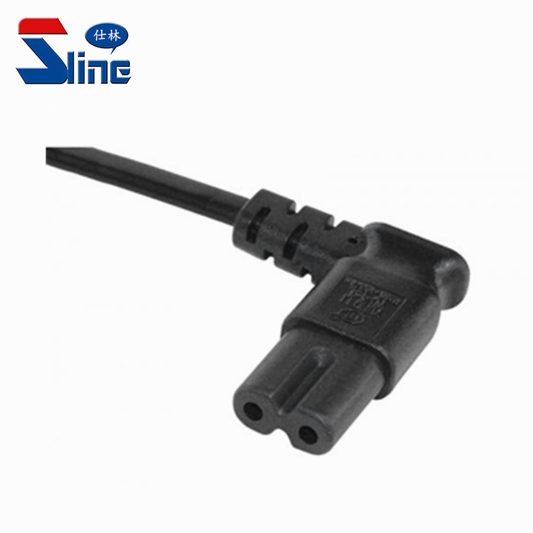 Angled IEC320 C7 Power Cord Receptacle with UL and VDE approval