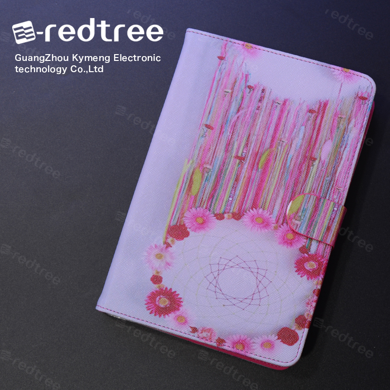E-redtree PU Leather Cartoon Printing Tablet Case Laptop Flip Cover for ipad case