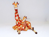 Mum baby giraffe jewelry trinket box