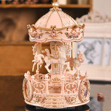 Polyesin Carousel Merry-go-round Musical Box For Gifts