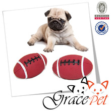 [Grace Pet] Dog Football Rubber Ball Toy with Sound Squeaker Squeaky Toy for Pets Puppies Dogs Cats