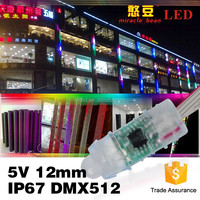 Outdoor IP67 waterproof DC5V IC16716 RGB 12mm led pixel for LED decoration Lighting