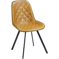 Nodric Style Modern Design Metal Base Faux Leather Diamond Chair for Home Dining Room