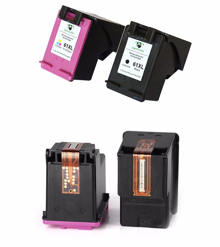 Supricolor Refillable ink cartridge for hp 61 ink cartridge replacement for HP Deskjet 1000/1010/1050/1055