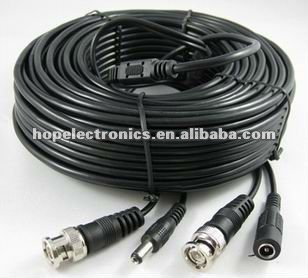 Promotion 75ohm BNC DC cable / dc power and bnc video cable / flexible video cable