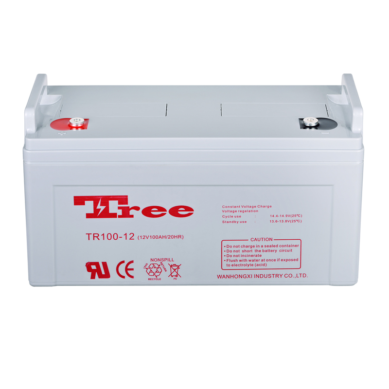 Free maintenance 100ah solar street light battery 12 Volt lead acid battery