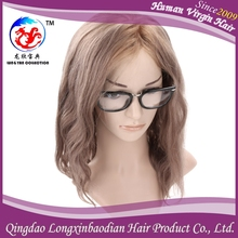 Long Lasting Elastic European Human Hair Wig, Wave Hair Lace Wig, Pure Hand Made Lace Wig