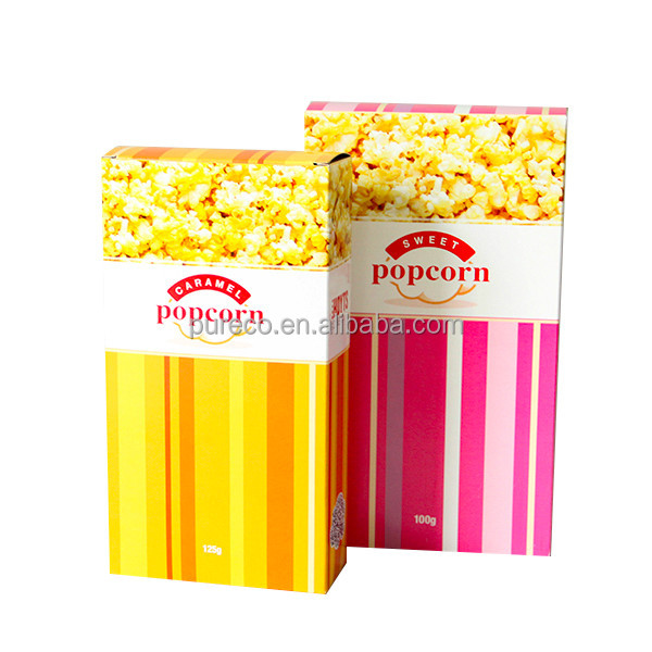 client customized design size shape printing food snack popcorn chips sweets packaging boxes with lids