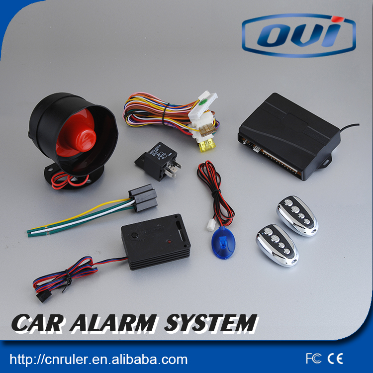 universal car security anti theft one way auto car alarm system with universal remote control key