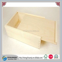 Unfinisehd wooden storage Box with sliding top