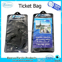 Vinyl plastic jacket bag for tickets and documents
