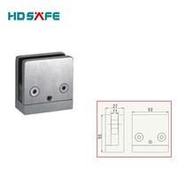 Stainless Steel Shower Glass Door Hardware