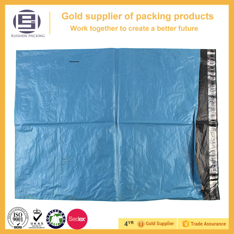 China manufacturer made courier nailing plastic bag with damage adhesive tape