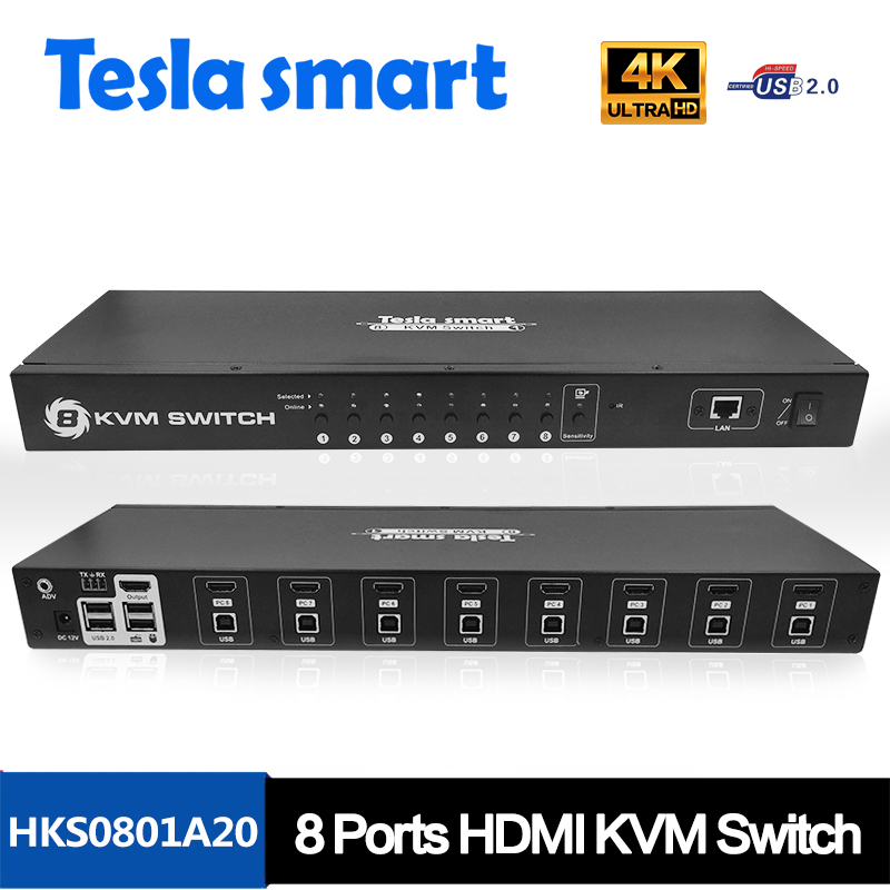 New Funtion 4k 2 port USB HDMI Switcher support full USB2.0 Devices HDMI KVM Switch 2:1
