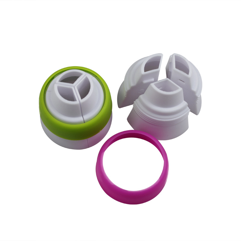 Icing Piping Pastry Bag Nozzle Converter,Tri-color Cream Coupler Cake