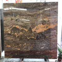 Purple brown Andes mountains marble