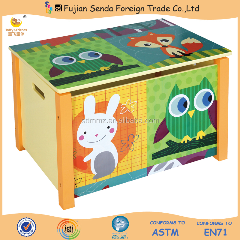 Wooden Kid Toy Box