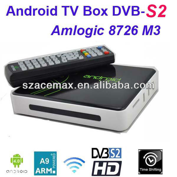 Google android 4.0 tv box with dvb-s2,PVR, XBMC Preinstalled,1080P Full HD,WIFI Build in,ARM Cortex A9, Internet TV