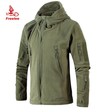 OEM wholesale custom outdoor hiking hooded army polar fleece hunting jacket