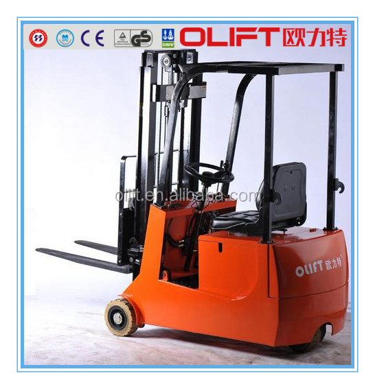 AC/DC Motor Three wheels electric forklift Truck