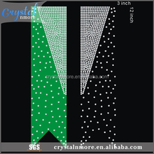 Iron On Cheer Bow Strips Rhinestone Diamante Transfer