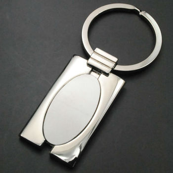 Factory directly supply custom simple metal keychain(J10096)