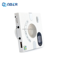 Wall Switch Design Radio Speaker with FM Time Display Home Wireless Speaker