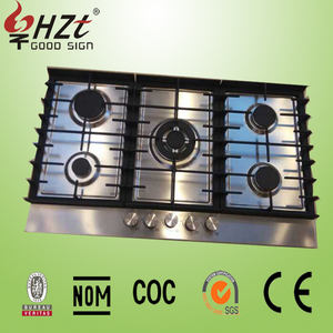 2016 built-in Five burners gas cooktops stainless steel gas hob