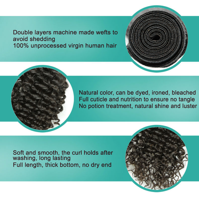 Factory price best selling virgin kinky curly weave extensions human hair