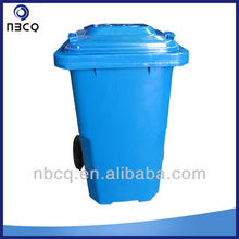 120L outdoor plastic blue trash can