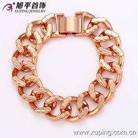 72724-xuping wholesale fashion high quality rose gold simple cheap chains men bracelets designs