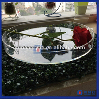 HIgh quality lucite plexiglass clear acrylic serving trays wholesale acrylic large round serving tray with handles