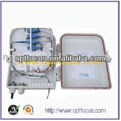 16 cores outdoor waterproof FTTH Terminal Box Could install 1*16 PLC spliter