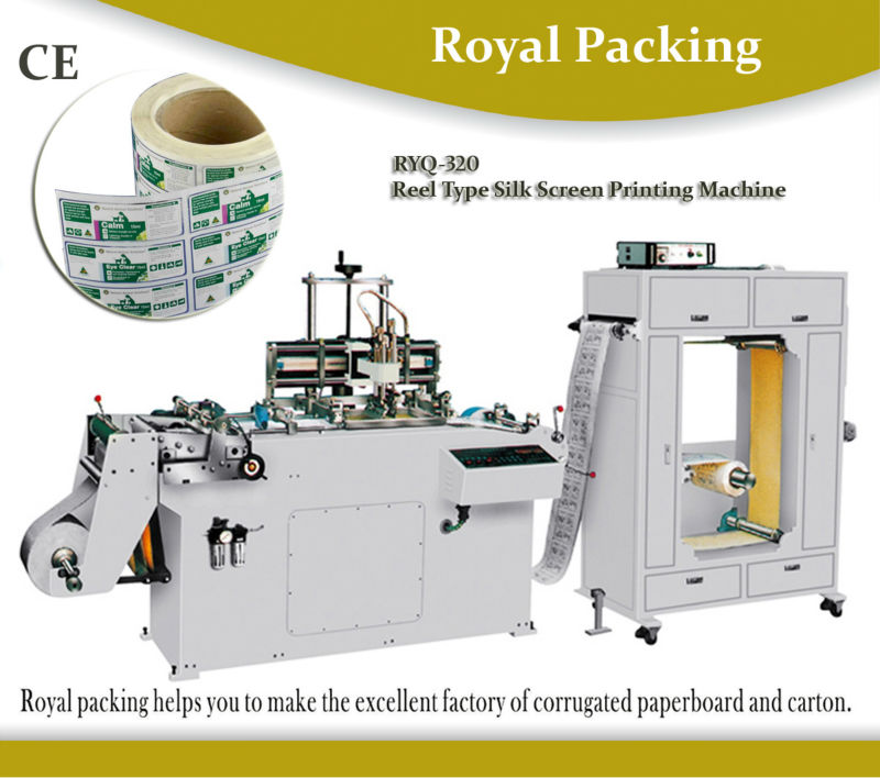 RYQ-320 roll to roll automatic sticker label printing machine of adhesive tape pvc film