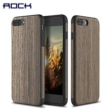 Rock Origin Series Wood Pattern Luxury Soft Silicone Case Cover For Apple iPhone 7 7 Plus Mobile Phone Case