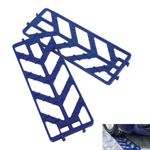 Tire Traction Mat Ice Scraper Tool Emergency Non-slip Grip Pad for Unstucking Car From Snow, Ice, Sand, Mud