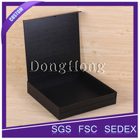 Custom logo textured paper cardboard jewelry box
