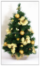 Competitive Price Giant Christmas Tree with Golden Flowers and Plastic balls 2014