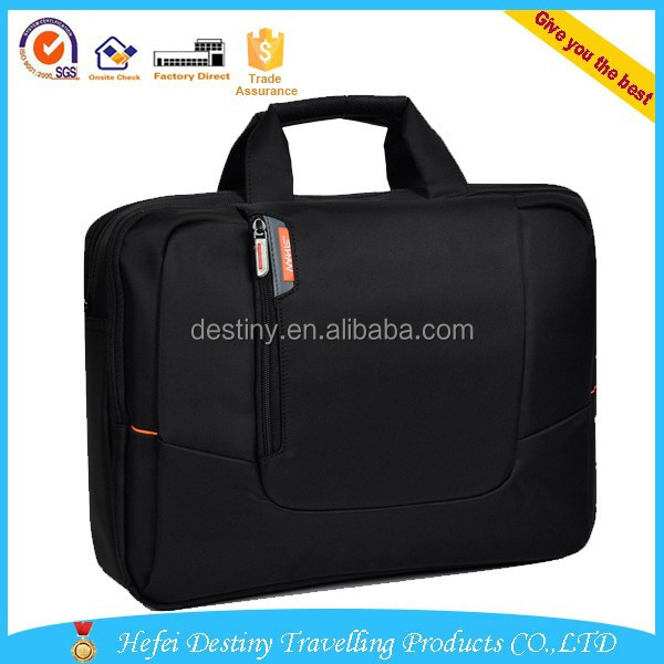 "hot sale lightweight durable multifunctional laptop bag 15.6"" black"