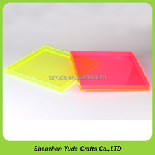 where to buy acrylic lucite display trays square stacking different colored acrylic neon trays