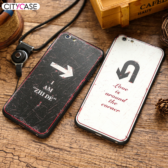citycase Love Is Around The Corner Phone Accessories Case 2016 Silicone PC Hard Back Cover for iphone 6 6plus
