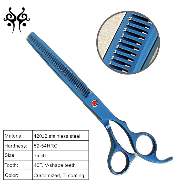 Professional Pet Grooming Scissors Set,straight & Thinning & Curved Scissors Set with Comb