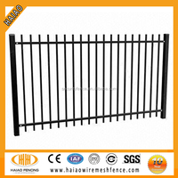 iron fence top Square tube garden fence