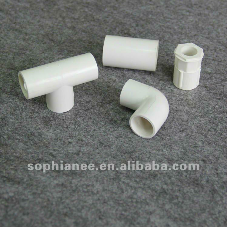 South Africa White and Grey Color PVC Pipe Fittings