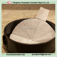 Pre-cut Circle Parchment Paper with Tabs for Cake Tin Liners