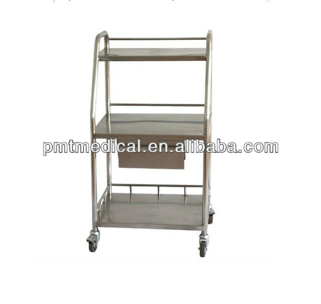 S.S Instrument medical metal trolley cart