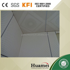 decorative perforated particle board fiberglass ceiling tile